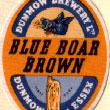 Blue Boar Brown Beer Label